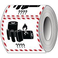 Etiquettes d'emballage adhésives personnalisées - Batteries ou piles au lithium
