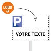 Panneau place de parking réservée personnalisable