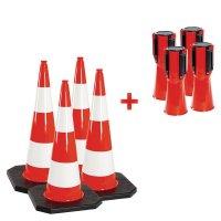 Kit cônes 1 m et balises 4,5 m - Rubacone