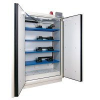 Armoires de sécurité pré-équipées pour le stockage de batteries lithium 90 minutes.