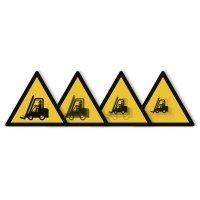 """Autocollant rigide animé SETON MOTION® """"Danger Chariots élévateurs et autres véhicules industriels"""""""