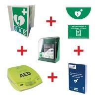 Kit défibrillateur ZOLL AED+ automatique avec armoire murale