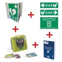 Kit défibrillateur ZOLL AED3 semi-automatique avec signalisation murale