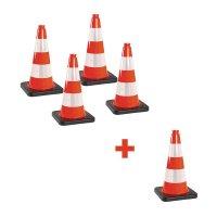 Lot de cônes de chantier rétroréfléchissants - Classe 2