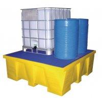 Bacs de rétention grand volume pour IBC en polyéthylène