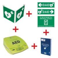 Kit défibrillateur ZOLL AED+ automatique avec signalisation murale