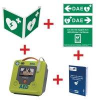 Kit défibrillateur ZOLL AED3 automatique avec signalisation murale