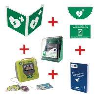 Kit défibrillateur ZOLL AED3 semi-automatique avec armoire murale