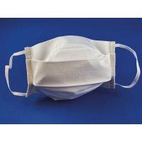 Masques lavables et réutilisables en tissu blanc