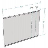 Ecran rideau PVC pour bureau flexible