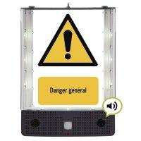 Panneau avertisseur sonore et visuel de danger