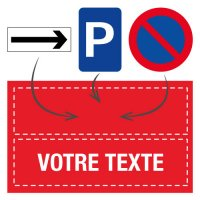 Panneau de parking personnalisable