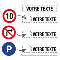 Panneau de parking à multiples messages personnalisable