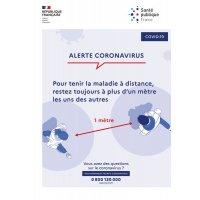 """Affiche officielle Coronavirus - """"Distanciation physique"""""""