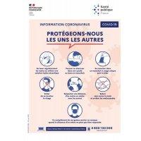 Affiche officielle Coronavirus - Protégeons-nous les uns des autres