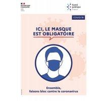 Affiche officielle Coronavirus - Ici le masque est obligatoire