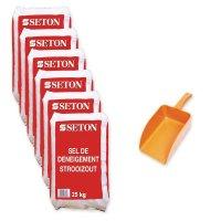 Kit 6 sacs de sel de déneigement 25 kg + pelle à main offerte