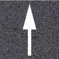 Marquage au sol thermoplastique : flèche de continuité