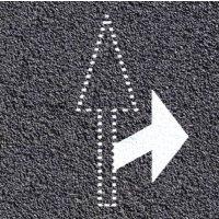 Marquage au sol thermoplastique : flèche courte à droite ou à gauche