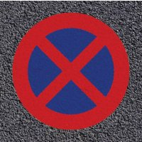 Marquage au sol thermoplastique - Arrêt et stationnement interdits
