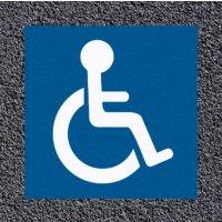 Marquage au sol thermoplastique : accès pour personnes handicapées