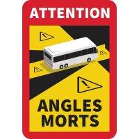 Etiquette d'angle mort pour bus