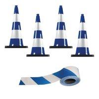Kit cônes de signalisation et rubans colorés
