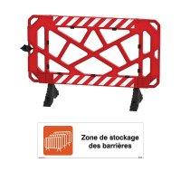 Kit barrières de chantier et panneau zone de stockage
