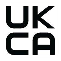Étiquettes UKCA noir/blanc