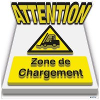 Marquage au sol 3D - ATTENTION Zone de chargement
