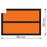 Plaques orange ADR adhésives neutres