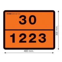 Plaque orange ADR