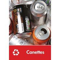 Signalétique recyclage - Canettes