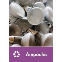 Signalétique recyclage - Ampoules