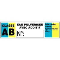 """Etiquettes """"classes au feu"""" pour extincteurs"""