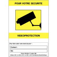"""Panneaux de vidéosurveillance """"Vidéoprotection"""" et zone """"Contact"""""""