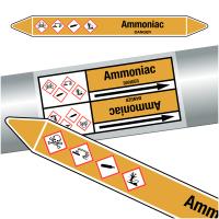 "Marqueurs de tuyauteries CLP ""Ammoniac"" (Gaz)"
