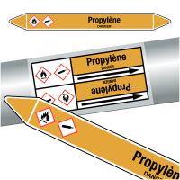 """Marqueurs de tuyauteries CLP """"Propylène"""" (Gaz)"""