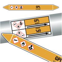 "Marqueurs de tuyauteries CLP ""GPL"" (Gaz)"
