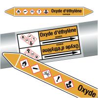 """Marqueurs de tuyauteries CLP """"Oxyde d'éthylène"""" (Gaz)"""