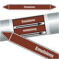"Marqueurs de tuyauteries CLP ""Emulsions"" (Liquides inflammables)"