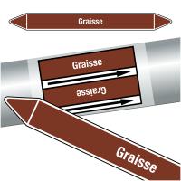 """Marqueurs de tuyauteries CLP """"Graisse"""" (Liquides inflammables)"""