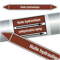 "Marqueurs de tuyauteries CLP ""Huile hydraulique"" (Liquides inflammables)"