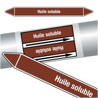 "Marqueurs de tuyauteries CLP ""Huile soluble"" (Liquides inflammables)"