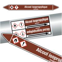 "Marqueurs de tuyauteries CLP ""Alcool isopropylique"" (Liquides inflammables)"