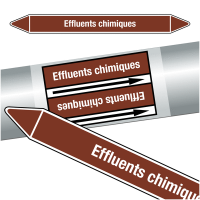 "Marqueurs de tuyauteries CLP ""Effluents chimiques"" (Liquides inflammables)"