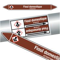 """Marqueurs de tuyauteries CLP """"Fioul domestique"""" (Liquides inflammables)"""