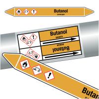 """Marqueurs de tuyauteries CLP """"Butanol"""" (Gaz)"""