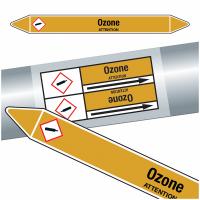 "Marqueurs de tuyauteries CLP ""Ozone"" (Gaz)"