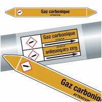 """Marqueurs de tuyauteries CLP """"Gaz carbonique"""" (Gaz)"""
